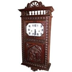 Rare Dual Chime French Brittany Style Wall Clock