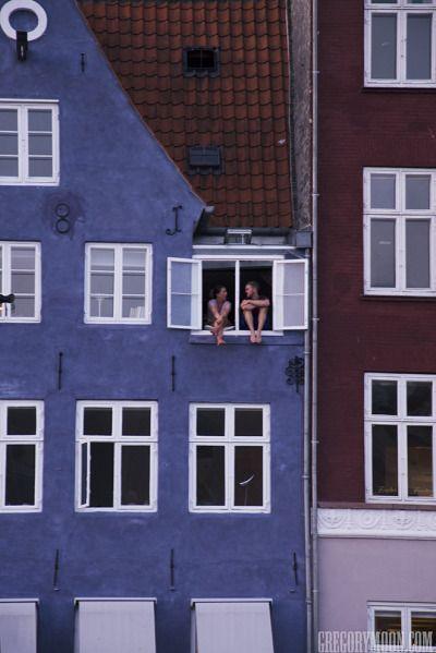Nyhavn . Copenhagen , Denmark .