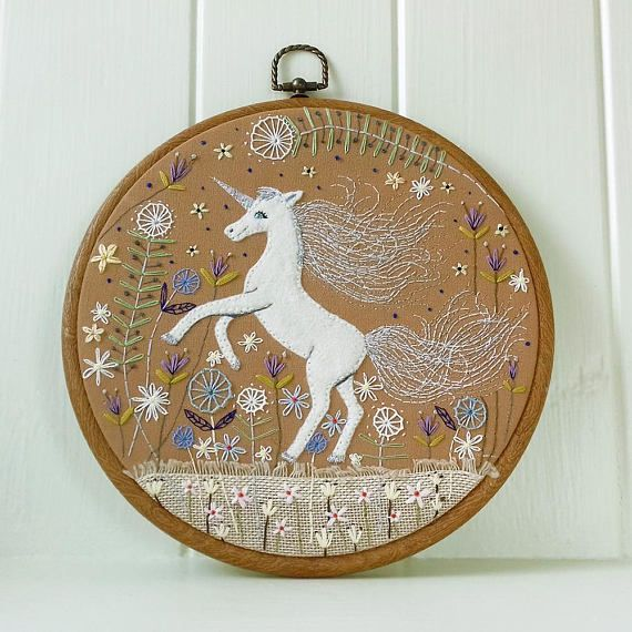 The Dancing Unicorn  Magical Unicorn Embroidery  Magical and