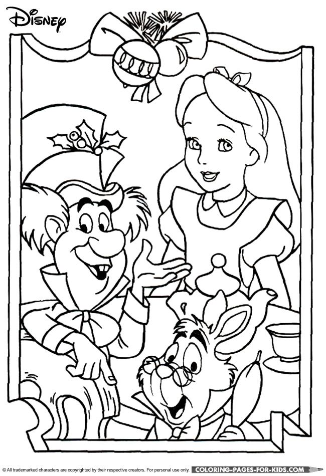51 best Alice in Wonderland coloring pages images on Pinterest