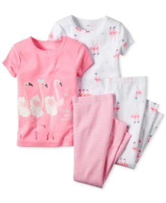 Carter's Baby Girls' 4-Piece Pink Flamingo Pajama Set