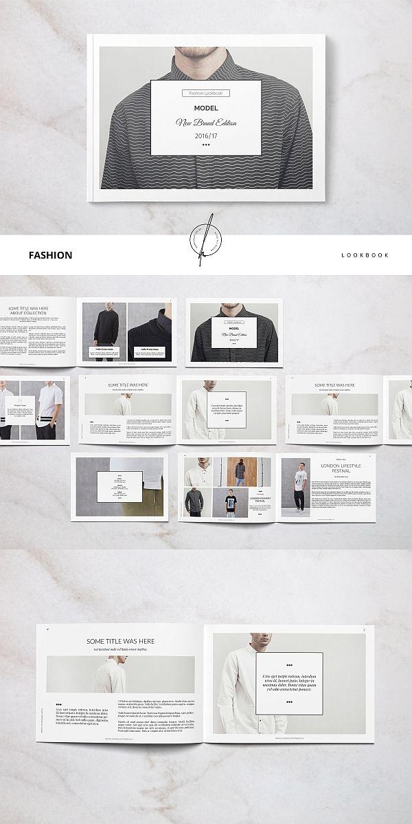 fashion lookbook poster brochure template magazine design