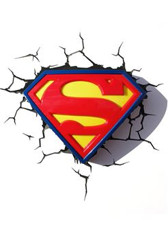 Superman 3D FX Wall Deco Light, €36.00