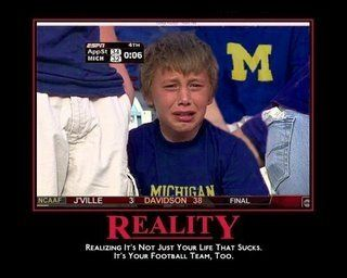 This is how Walmart Wolverines are going to feel next season...The BCS won't be able to do you any favors
