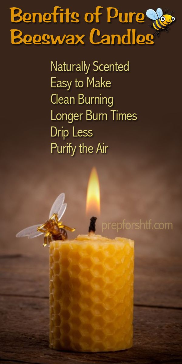 Benefits of Pure Beeswax Candles. Another reason why I want a bee