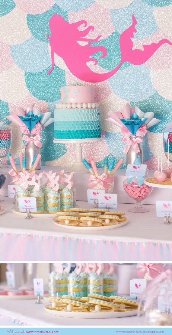 BARBIE MERMAID Birthday Party Printable Set by SweetScarletDesigns
