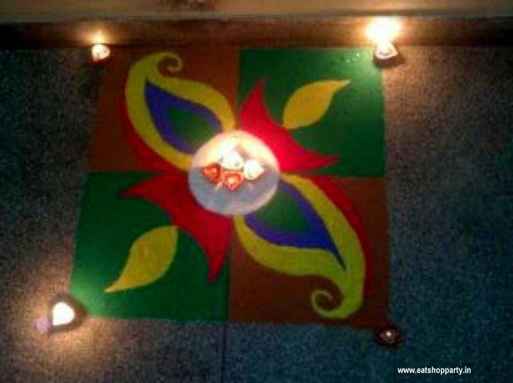 Easy Rangoli Design - Done by me a few years back