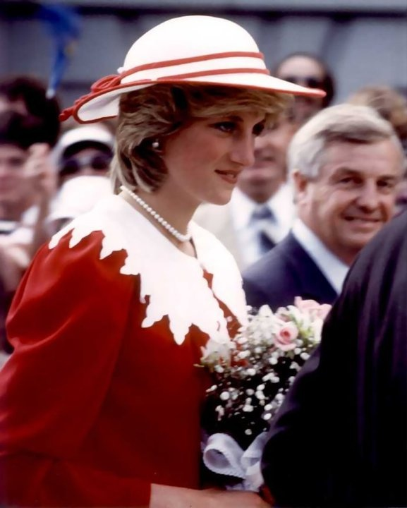 Princess Diana with Premier Peter Lougheed in Edmonton, Alberta, Canada