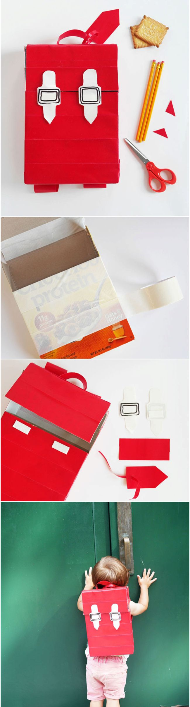 Recycled Cereal Box Backpack. Make an adorable backpack ...