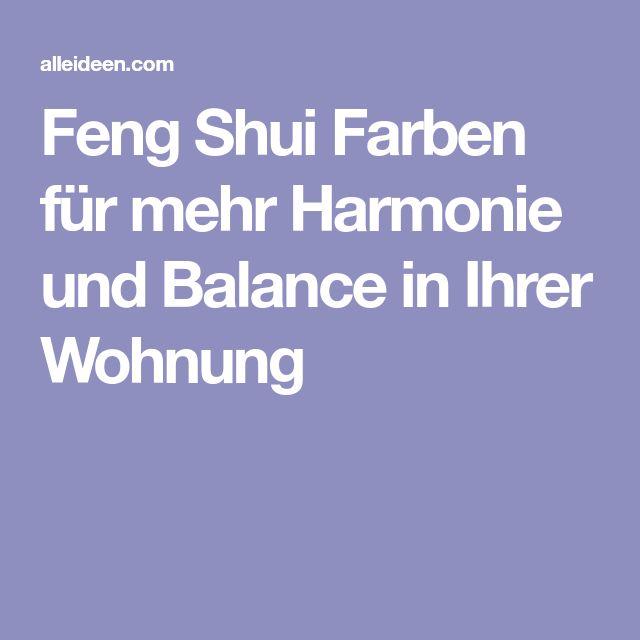 Die besten 25+ Feng shui farben Ideen auf Pinterest Feng shui - feng shui schlafzimmer farbe
