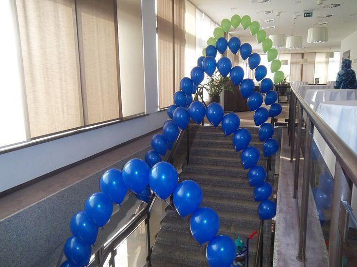 Balónové perlové oblúky - hélium