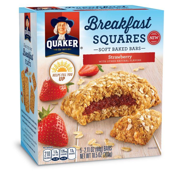 Quaker Breakfast Squares Strawberry - 5ct 10.5oz
