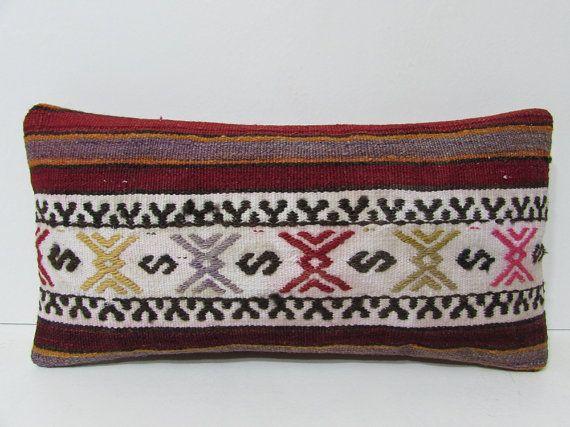 10x20 western kilim pillow handmade pillow case lumbar throw