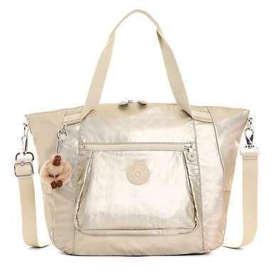 Chambers Metallic Handbag - Sparkly Gold