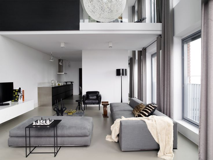 Piet Boon Styling by Karin Meyn | Loft Living, soft colors combined with grey furniture