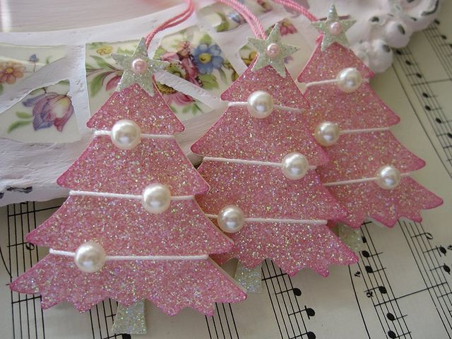 Pink Glittery Christmas Trees by vsroses.com, via Flickr