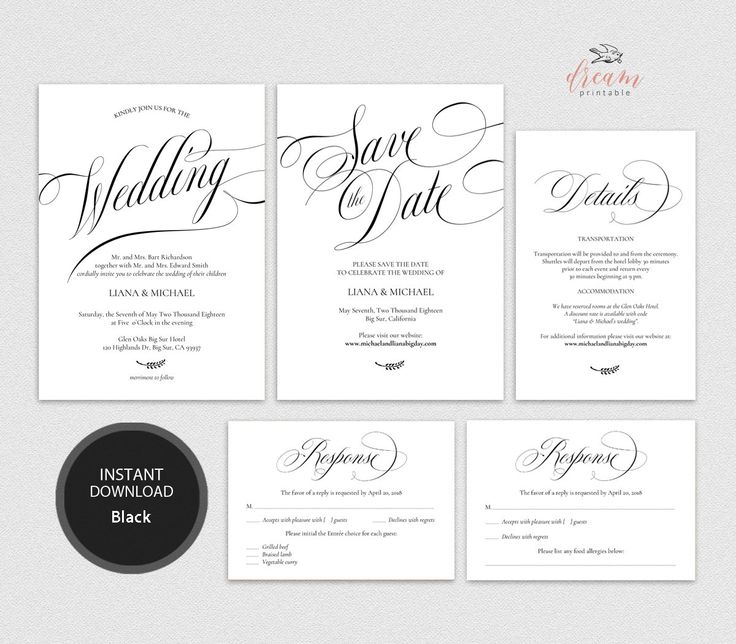 INSTANT DOWNLOAD Editable Pdf Template Set 5x7 Invitation, 4x6 Details, 3.5x5 Reply RSVP, 5x7 Save the date card Wedding #DP210_S1 by DreamPrintable on Etsy #wedding #instant #download #printable #image #graphic #digital #reception_sign #PDF #Template #wedding_ceremony #wedding_sign #Calligraphy #Sign #events #events_design #wedding_printable #wedding_design
