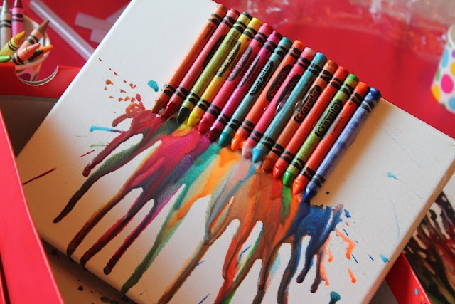 Art Party Crayon Art