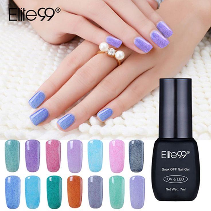 Elite99 7ml Faux Fur Nail Gel Varnishes Soak Off UV LED Gel Hot Sale DIY Nail Art Polish 21 Colors Full Set Wholesale