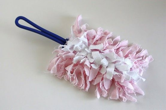 DIY cleaning product. Make your own Swiffer duster. You can throw it in the washer and reuse over and over. @ MyHomeLookBookMyHomeLookBook