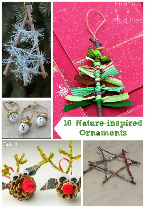 20 Nature inspired Holiday Projects 122 best DIY