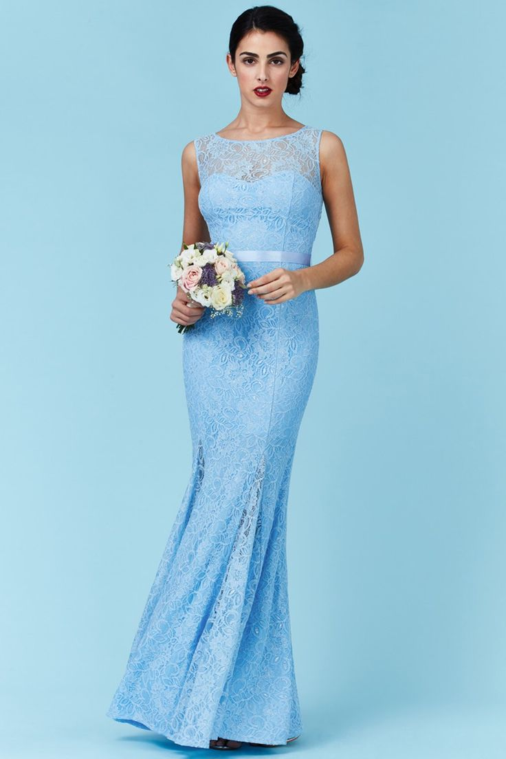 Světle modré šaty Lace Queen