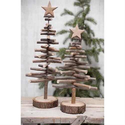 Ib Laursen - Juletræ med træpinde og træstjerne