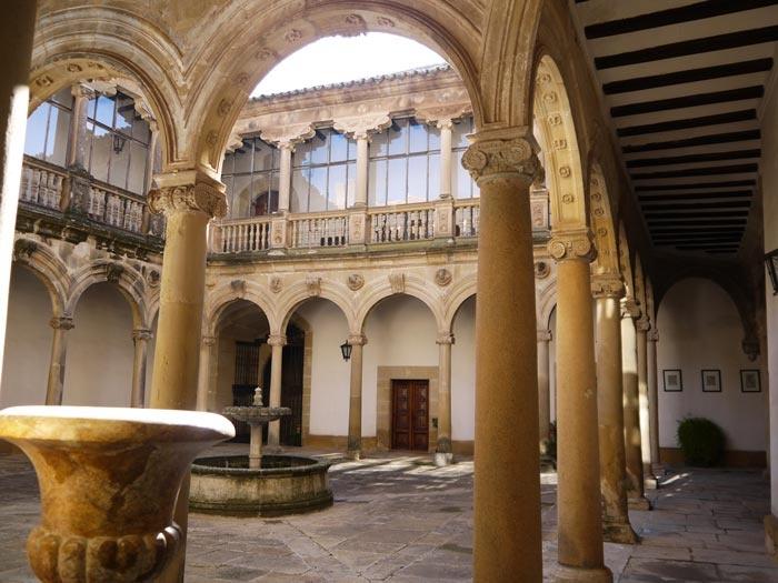 Castle Courtyard of Spanish Olive Oil Producer Castillo de Canena