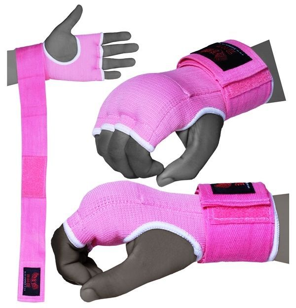 BOOM Pro Ladies Pink Gel Boxing Inner Gloves Hand Wrap,Grapling glove MMA Kick B