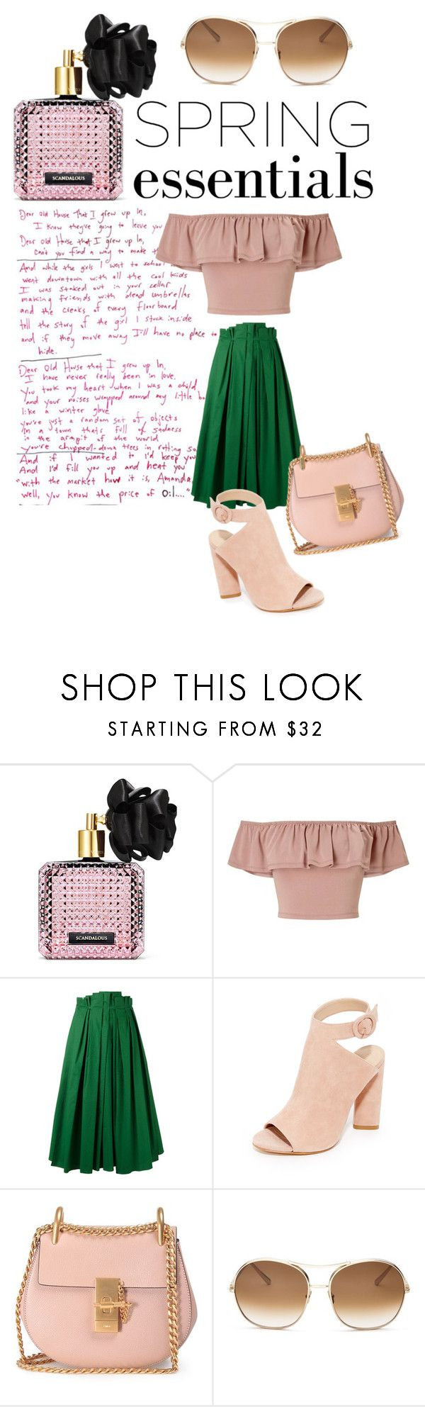 """""""my essentials in spring"""" by beemdh on Polyvore featuring Belleza, Victoria's Secret, Miss Selfridge, Rochas, Kendall + Kylie y Chloé"""