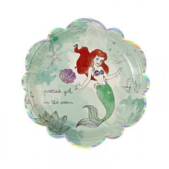 Disney Princess Little Mermaid Plates : The Party Cupboard : Online Party Supplies Store Australia | The Party Cupboard