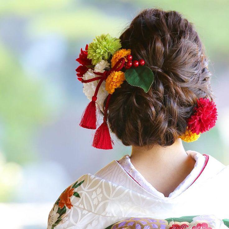 ゆるふわ感がポイント♩おしゃれ花嫁さんのイマドキ和装ヘア8選 | marry[マリー]