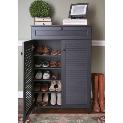 Baxton Studio Harding Wood Shoe-Storage Cabinet in Dark Brown Espresso 28862-5306-HD