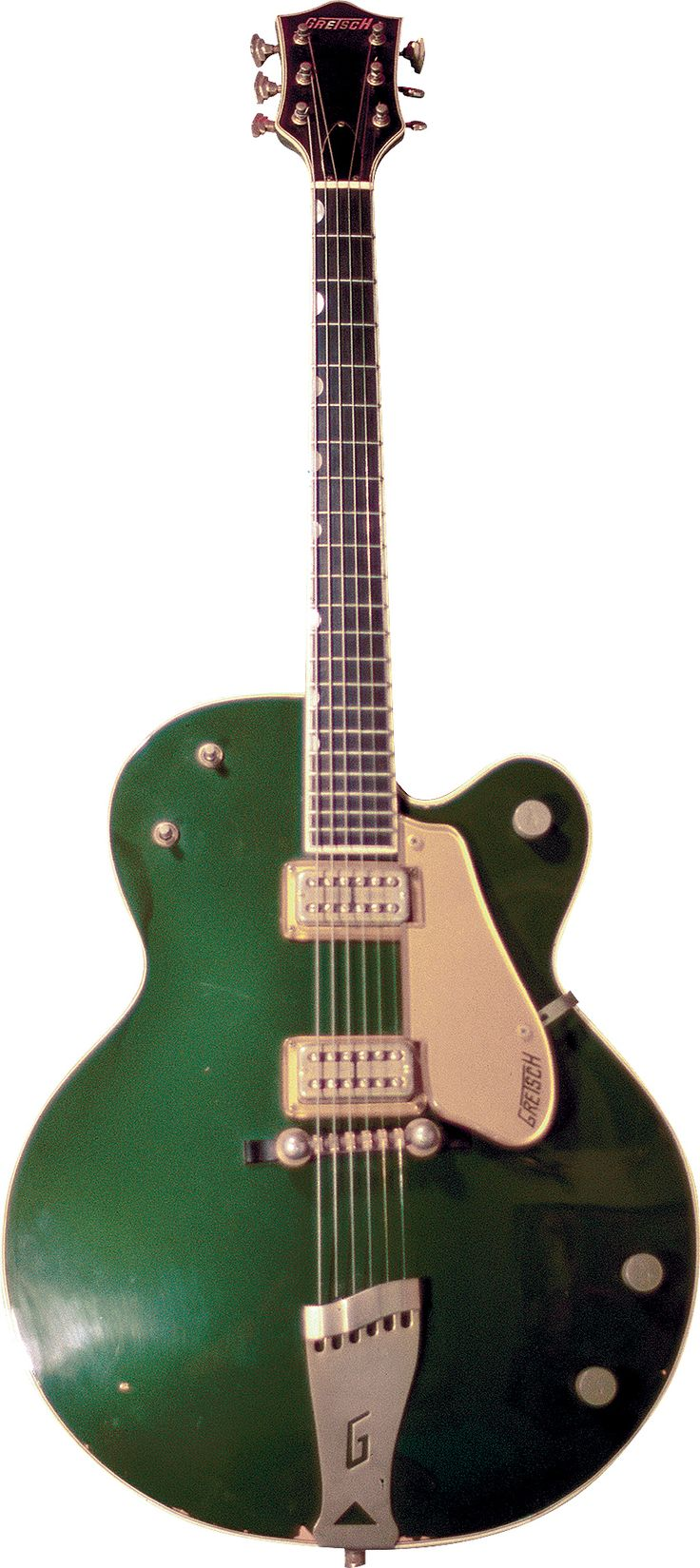 "Gretsch aficionados know the adage – ""Clubs have holes and a Gentleman don't!"" With this guitar, though, somebody messed with the system! Under normal circumstances, the only way to view the serial…"