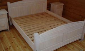 Łóżko drewniane Sandra 2 Klasyczne 160x200 białe przecierane