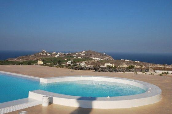 Black Rock rental Villa in the Santorini, Greece