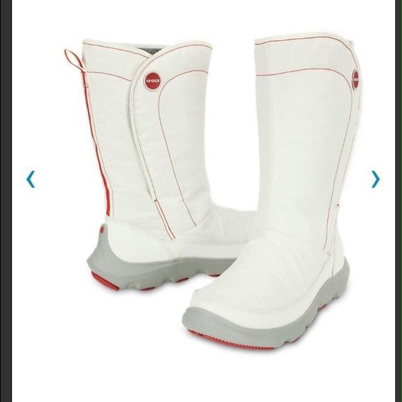 White winter boots Comfy warm white winter boots, new! crocs Shoes Winter & Rain Boots