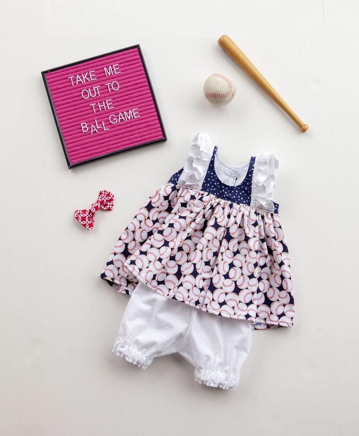 Baseball Dress, Toddler Dress, Sports Dress, Little Girl Dress, Dress with Bloomers, Baby Girl Dress, Summer Dress, Sizes 3/6mths-5t by MelissaSmithDesignCo on Etsy https://www.etsy.com/listing/593713155/baseball-dress-toddler-dress-sports