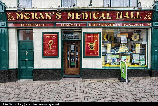 Pharmacy, Moran's Medical Hall, Clifden, Galway, Republic of Ireland, Europe