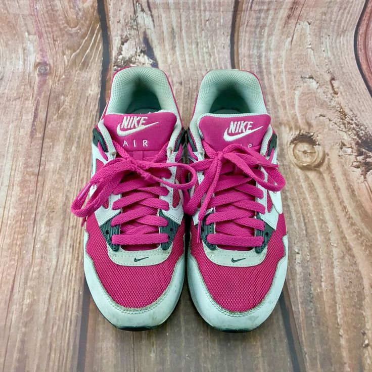 Nike Air Max Pink Grey White Girls Woman's Trainers Size Uk 5 Lots Of Wear Left