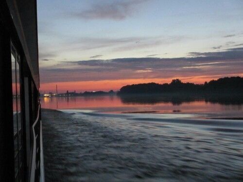 Sunset from the river boat