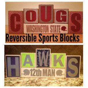 NFL Seattle Seahawks and WSU Cougars Custom Reversible by BLOCKERZ
