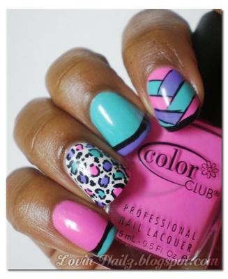 Love these!Nails Art, Nailart, Nails Design, Colors Club, Colors Animal, Purple Nails, Animal Prints, Leopards Nails, Fingers Nails