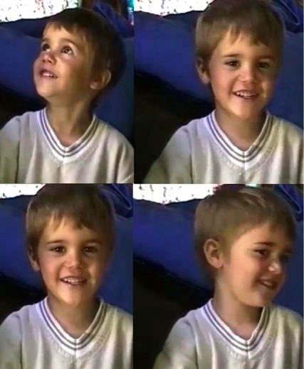 little bieber... awe he was and still is sooooooooo cute