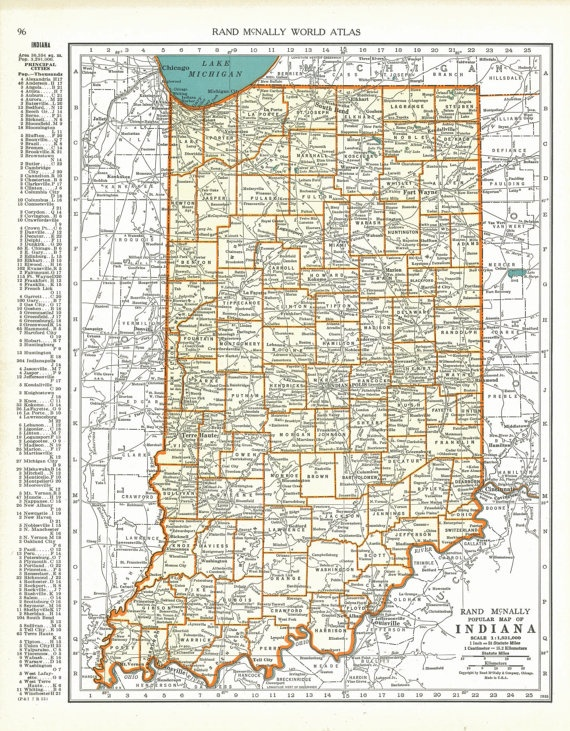 Best Maps Of Indiana Images On Pinterest Indiana Map Maps - Indiana maps