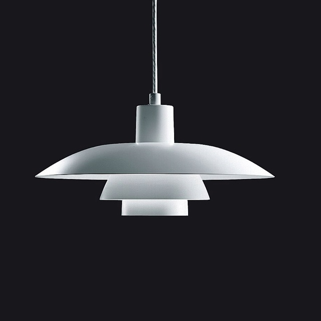 PH 4/3 pendant light by Louis Poulsen (designed by Poul Henningsen in1925-26) - designed to direct the majority of the light downwards in a uniform, glare free fashion #designclassic