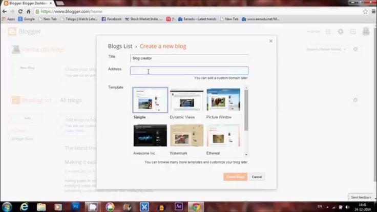 how to create blogger  or website (telugu)