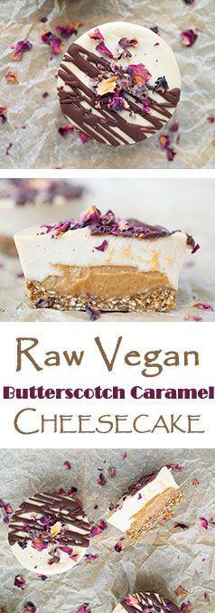 Raw Vegan Caramel Butterscotch Cheesecakes!