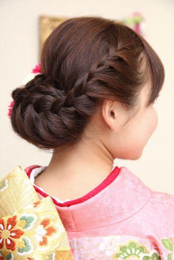 「 編み込み入り 下でまとめたヘアスタイル 」の画像|Milfeliceウェディングヘアメイクアーティスト|Ameba (アメーバ)