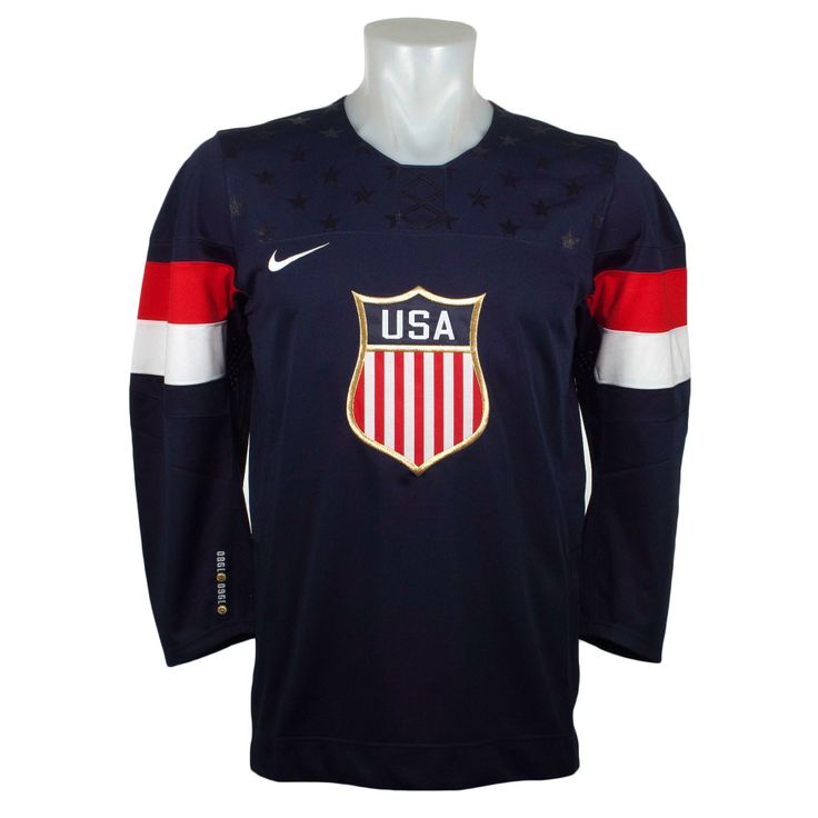 Team USA Official 2014 Olympic Replica Navy Hockey Jersey - Can be Customized at IceJerseys.com - Official Fan Shop